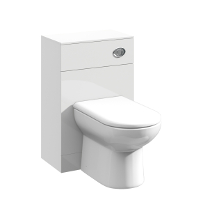 Nuie Mayford Gloss White Contemporary 500mm WC Unit - PRC142 PRC142