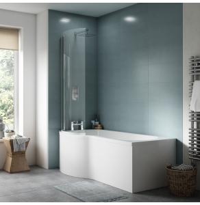 Nuie Bath Panels White Contemporary Shower Front Panel (1500mm) - WBP202 WBP202