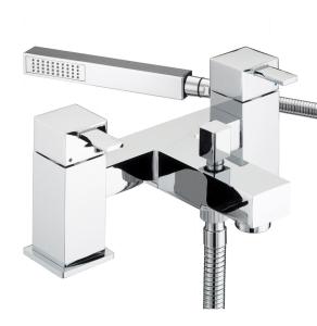 Bristan Quadrato Pillar Bath Shower Mixer Chrome - QD BSM C QD BSM C