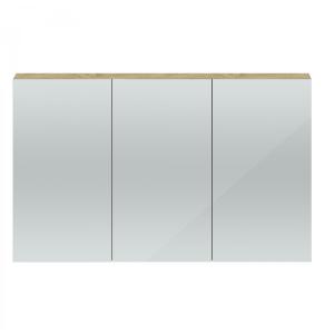 Hudson Reed Quartet Natural Oak 1350 Mirror Cabinet - QUA012 QUA012