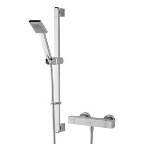 Bristan Quadrato Exposed Bar Shower with Kit Chrome QD SHXSMFF C