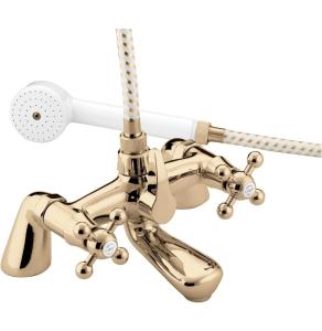 Bristan Regency Pillar Bath Shower Mixer Gold - R BSM G R BSM G