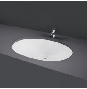RAK Rosa Inset Countertop Basin 500mm Wide - 0 Tap Hole - ROSAVB50 RAK10439