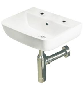 RAK Series 600 Cloakroom Basin 400mm Wide 2 Tap Hole - S60040BAS2 RAK10109