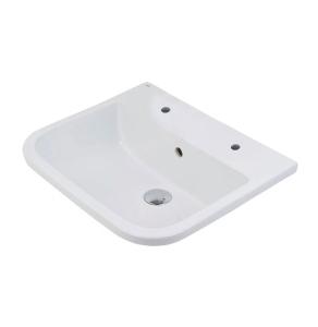 RAK Series 600 Inset Vanity Basin 500mm Wide 2 Tap Hole - S600VB2 RAK10111
