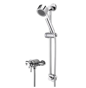 Bristan Rio Thermostatic Surface Mounted Shower Valve with Adjustable Riser Chrome RO2 SHXAR C