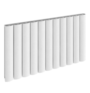 TNS Reina Greco Aluminium Single Double Radiator 600mm High x 1040mm Wide In White - A-GR104W A-GR104W