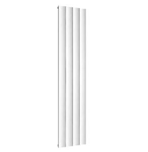 TNS Reina Luca Aluminium Single Vertical Radiator 1800mm High x 375mm Wide In White - A-LU418W A-LU418W