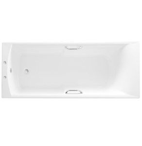 Roca Almeria Single Ended Rectangular Bath with Grips 1700mm x 700mm 2 Tap Hole - 024733000 RO10490