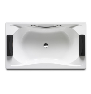 Roca Becool Double Ended Rectangular Bath with Grip and Headrest 1800mm x 900mm 0 Tap hole - 248013001 RO10481