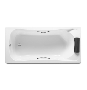 Roca Becool Single Ended Rectangular Bath with Grips and Headrest 1700mm x 800mm 0 Tap hole - 248016001 RO10491