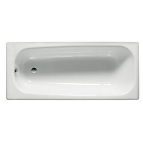 Roca Contesa Anti-Slip Single Ended Steel Bath 1600mm x 700mm - 2 Tap Hole - 2371J3000 RO10447