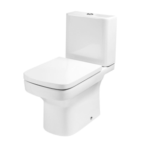 Roca Dama-N Close Coupled Toilet with Push Button Cistern, Standard Seat RO10095