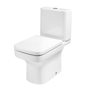 Roca Dama-N Close Coupled Toilet with Push Button Cistern, Soft Close Seat RO10097