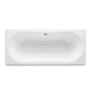 Roca Duo Plus Double Ended Rectangular Steel Bath 1800mm x 800mm 0 Tap Hole - 221660000 RO10475