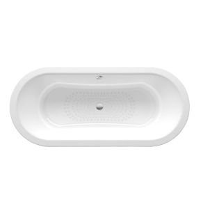 Roca Duo Plus Double Ended Oval Steel Bath 1800mm x 800mm 0 Tap Hole - 222555000 RO10480
