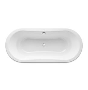 Roca Duo Plus Freestanding Oval Steel Bath with Anti-slip Base 1800mm x 800mm 0 Tap Hole - 222575000 RO10494