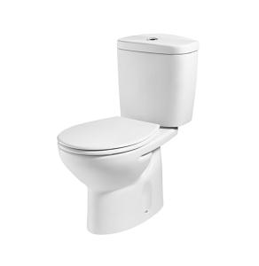 Roca Laura Close Coupled Toilet, Push Button Cistern, Standard Seat, White RO10185