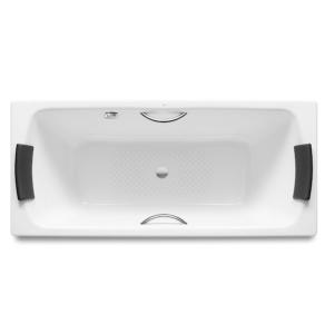 Roca Lun Plus Steel Bath with Anti-slip Base 1800mm x 800mm - 0 Tap Hole - 2212G0000 RO10651