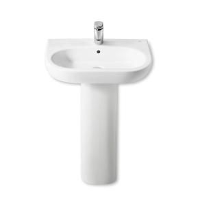 Roca Meridian-N Basin and Full Pedestal, 650mm Wide, 1 Tap Hole RO10139