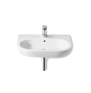 Roca Meridian-N Wall Hung Basin, 650mm Wide, 1 Tap Hole - 327241000 RO10124
