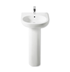 Roca Meridian-N Basin and Full Pedestal, 500mm Wide, 1 Tap Hole RO10126