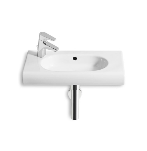 Roca Meridian-N Compact Wall Hung Basin, 600mm Wide, 1 LH Tap Hole - 32724X000 RO10118