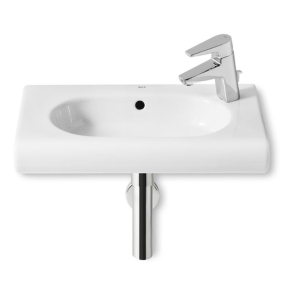 Roca Meridian-N Compact Wall Hung Basin, 550mm Wide, 1 RH Tap Hole - 32724Y000 RO10112