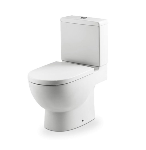 Roca Meridian-N Eco Close Coupled Toilet with Dual Outlet Push Button Cistern, Soft Close Seat RO10148