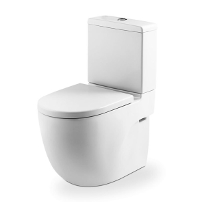 Roca Meridian-N Compact Close Coupled Toilet with Dual Outlet Push Button Cistern, Standard Seat RO10156