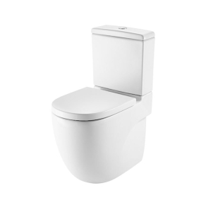 Roca Meridian-N Close Coupled Toilet WC Push Button Cistern - Soft Close Seat RO10159