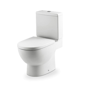 Roca Meridian-N Eco Close Coupled Toilet with Dual Outlet Push Button Cistern, Standard Seat RO10146