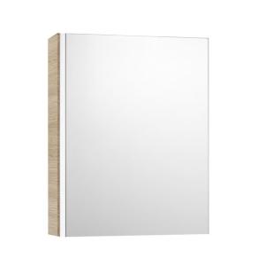 Roca Mini Mirrored Cabinet 450mm Wide - Textured Oak - 856692155 RO10442
