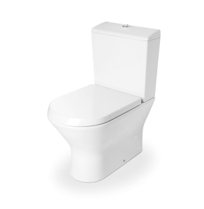 Roca Nexo Compact Closed Coupled Toilet WC Push Button Cistern - Standard Seat RO10284