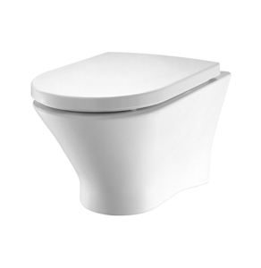 Roca Nexo Rimless Wall Hung Toilet WC 530mm Projection - Soft Close Seat RO10279