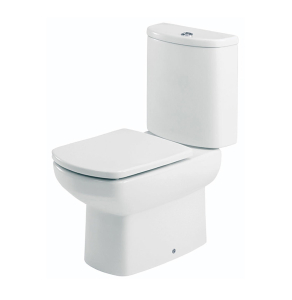 Roca Senso Close Coupled Toilet with Dual Outlet Push Button Cistern, Standard Seat RO10257