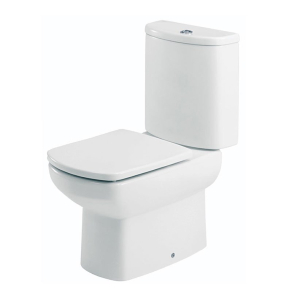 Roca Senso Compact Eco Close Coupled Toilet with Dual Outlet Push Button Cistern, Standard Seat RO10260