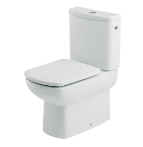 Roca Senso Compact Close Coupled Toilet with Dual Outlet Push Button Cistern, Soft Close Seat RO10263