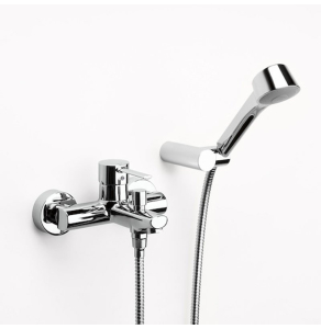 Roca Targa Bath Shower Mixer Tap Deck Mounted with Auto Diverter and Shower Kit In Chrome - 5A0160C02 RO10565