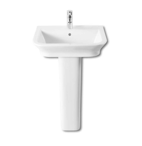 Roca The Gap Basin and Full Pedestal, 550mm Wide, 1 Tap Hole RO10014