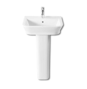 Roca The Gap Basin and Full Pedestal, 500mm Wide, 1 Tap Hole RO10013