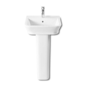 Roca The Gap Basin and Full Pedestal, 450mm Wide, 1 Tap Hole RO10010