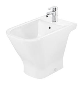Roca The Gap Bidet with Soft Close Seat 560mm Projection - 1 Tap hole RO10033