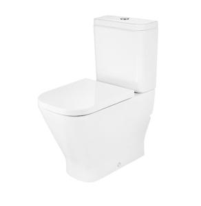 Roca The Gap Close Coupled Comfort Height Back to Wall Toilet Pan - Soft Close Seat RO10047
