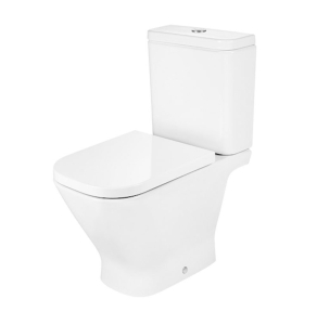 Roca The Gap Close Coupled Toilet with Push Button Cistern, Standard Seat RO10043