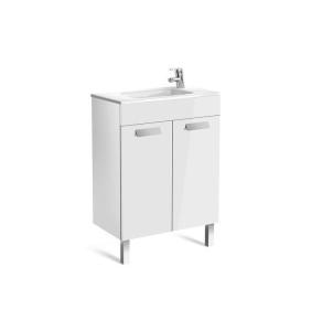 Roca Debba Compact Unik 600mm 2 Door Unit & Basin In Gloss White - 855901806 RO10638