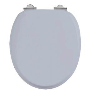 Burlington Soft Close Toilet Seat with Chrome Hinges In Grey - S46 BU10911
