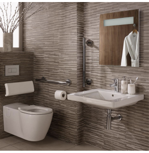 Ideal Standard Concept Doc M Pack with Wall Hung Disabled Toilet and 600mm Basin White - S6402AA - S6402AA IS10644