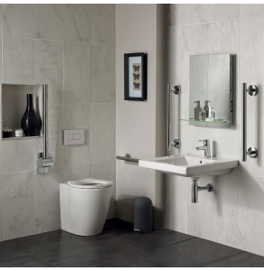 Ideal Standard Concept Doc M Pack with BTW Disabled Toilet and 600mm Basin White - S6403AA - S6403AA IS10641