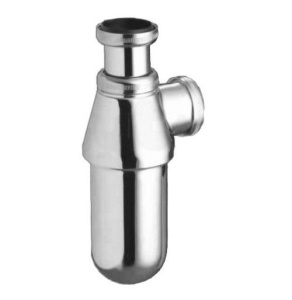 Armitage Shanks 1 1/4 Metal Bottle Trap, 75 mm Seal, Outlet Screwed, Chrome - S8900AA S8900AA